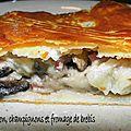 0303 Chausson feuilleté champignon jambon 3