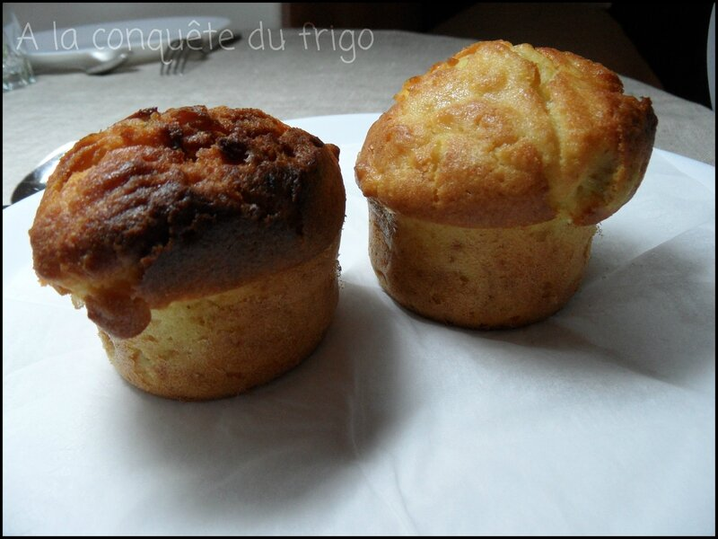 muffin pomme rhubarbe