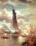 Edward Moran - Statue of Liberty Enlightening the World