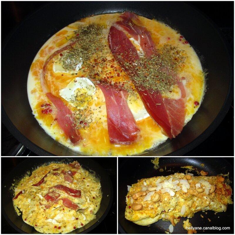 omelette lard