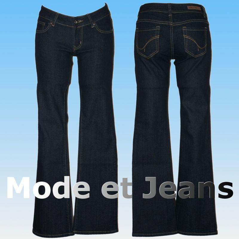 jean bootcut bleu fonc fashion femme taille basse blog. Black Bedroom Furniture Sets. Home Design Ideas
