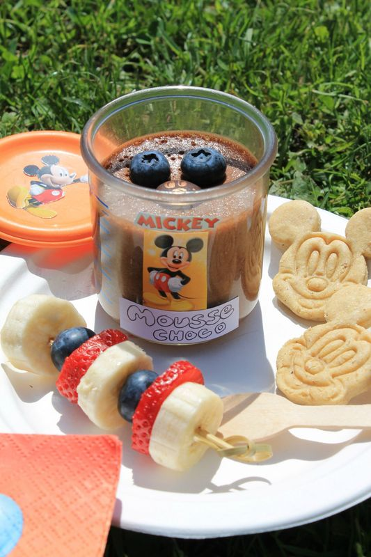 Mickey Mousse Au Chocolat Mes Ptits Biscuits Gourmands Et