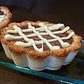 Tartelettes à la noix de coco et aux 2 chocolats
