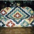 couvre lit log cabin