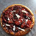 Gourmandises du dimanche- tarte tatin à la tomate et au vinaigre balsamique