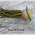 Vinaigrette moutarde et asperges