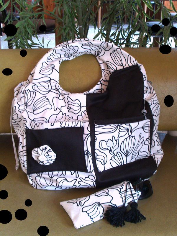 sac noir et blanc