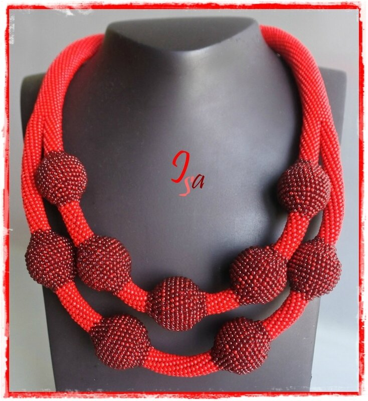 Collier MS 'Ecume 9' rouge