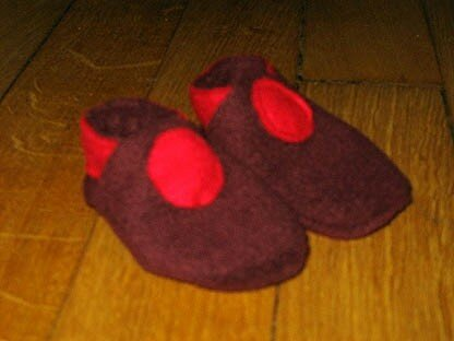 Sophie - petits chaussons polaire