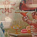 Dessin avec personnages dans une pâtisserie