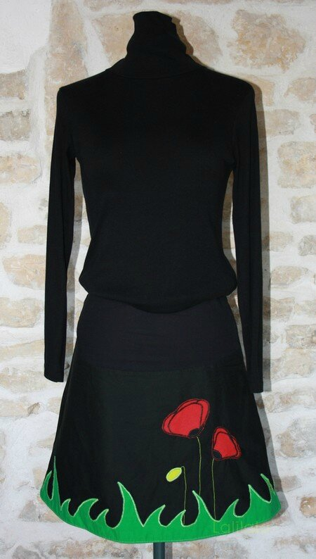 jupe coquelicot rouge lalilalo creations et recreations (2)