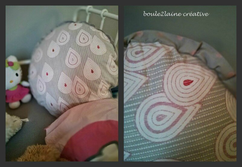 coussin rond lily