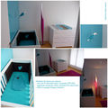 Chambre turquoise coeur chocolat adeuxmains