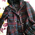 Duffle coat tartan