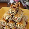 Baklavas rolls noix, amande et pistache