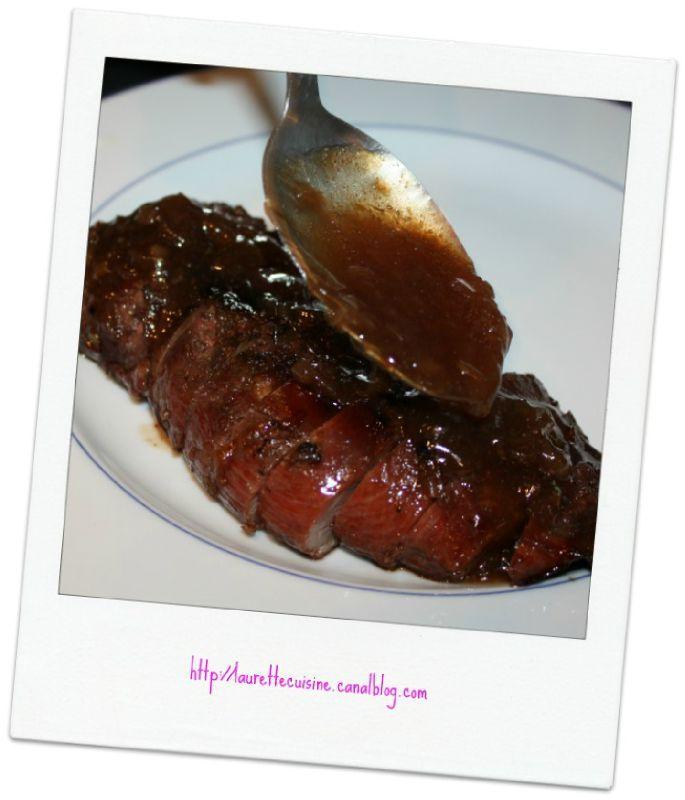 magret de canard au barbecue et sa sauce laurette cuisine