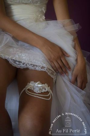 jarretière mariée dentelle perles satin English inspiration 2 hd