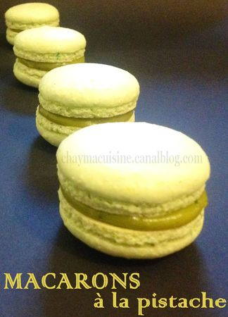 macarons pistache blog