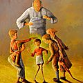 Innocence au bout du fil - 92x73cm - Acrylique sur toile - Disponible