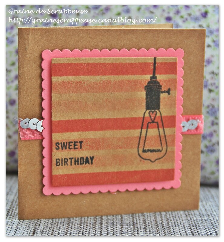 Carte sweet birthday #stampinup