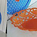 Bleu canard...ou canard à ( la corbeille) orange