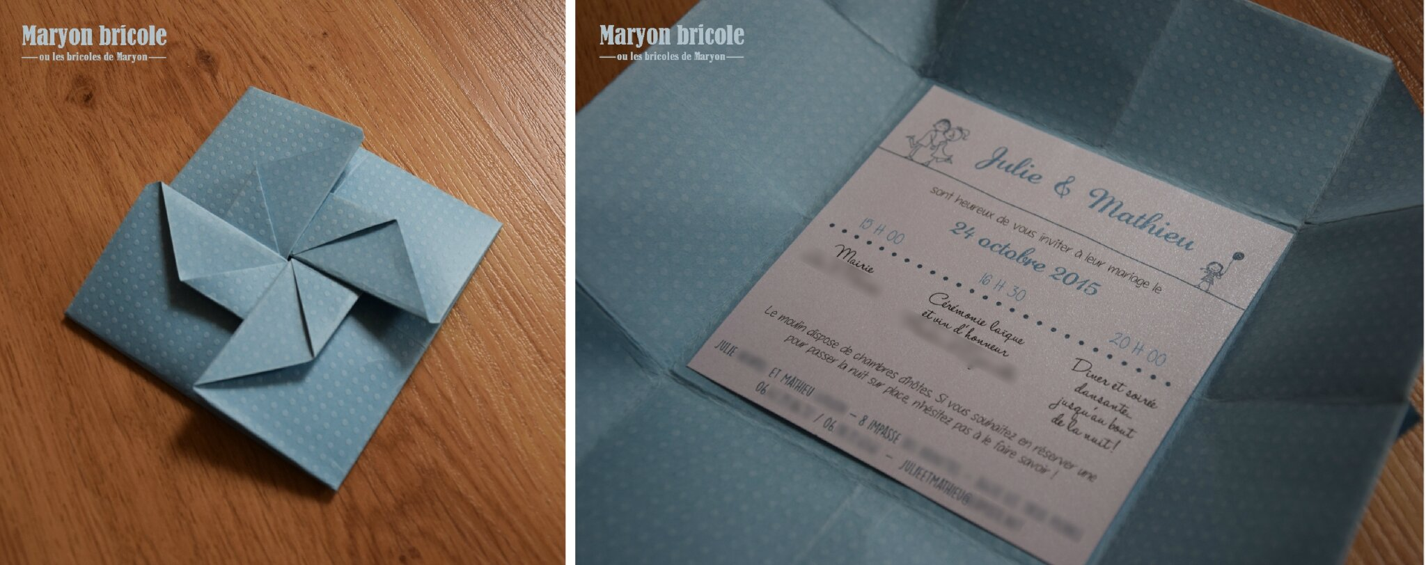 Connu Un mariage origami : faire-part et boîtes cadeaux - Maryon bricole  BA11