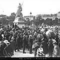1914-10-21 statue de strasbourg place de la concorde à Paris