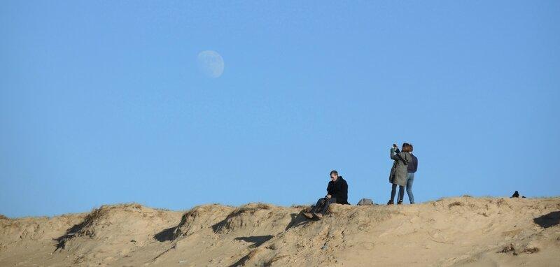 Labenne-Océan, plage et lune en hiver (40)