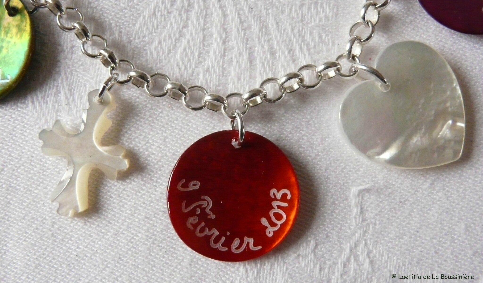 Bracelet personnalisé (date de mariage)-001
