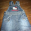 robe jean hello kitty (2€)