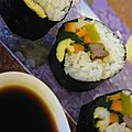 Gimbap, sushi coréens