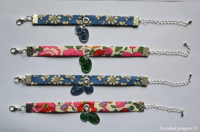 Bracelets liberty Lourdes capel bleu et betsy rose
