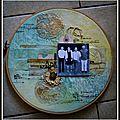 Page de scrap sur tambour