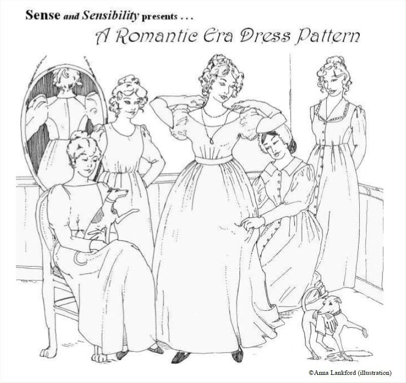 senseandsensibility- romantic era dress pattern