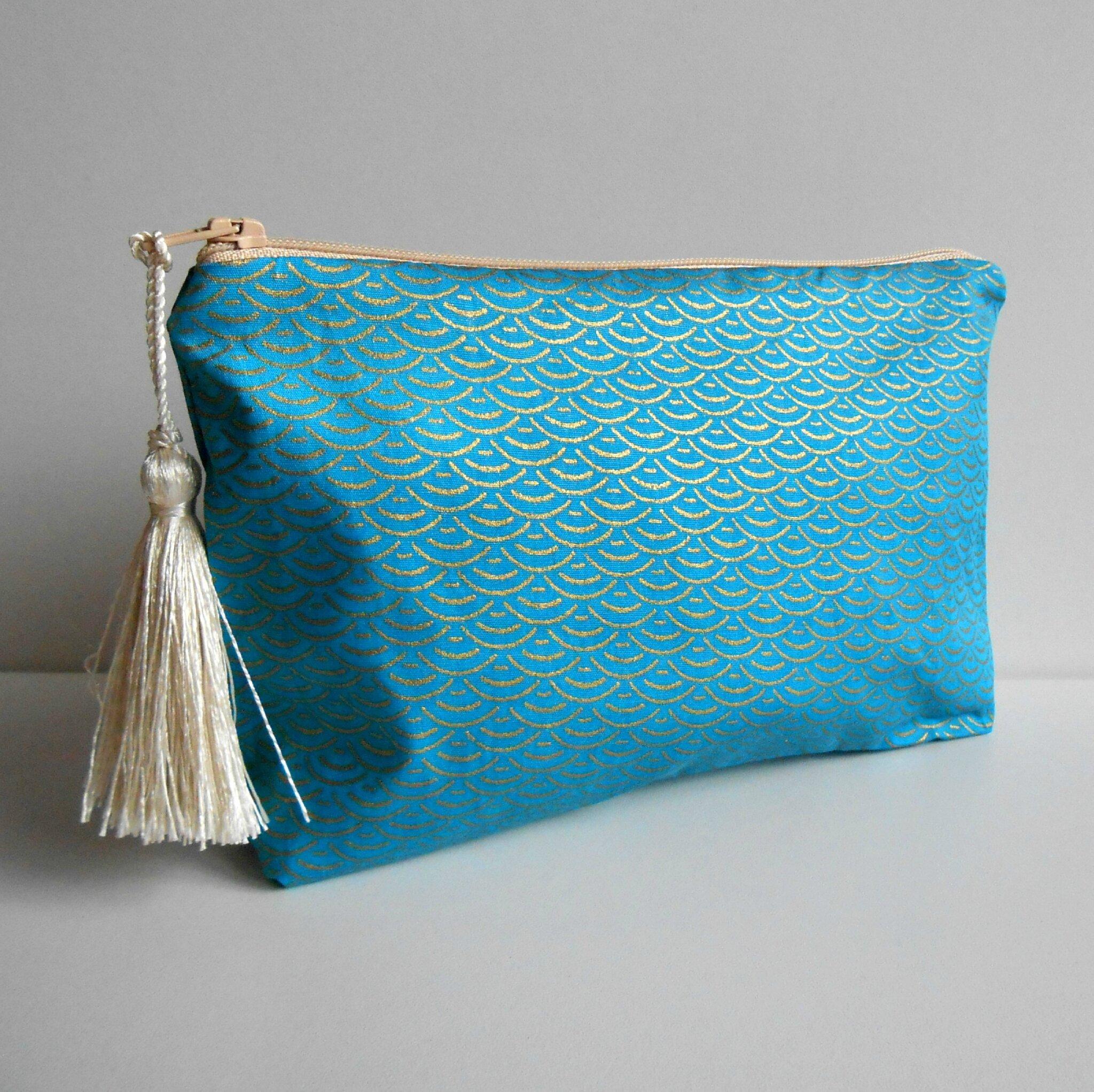 Pochette vagues bleues