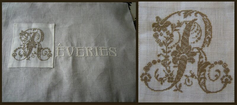 Coussin Broderie Couture