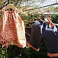 Petit ensemble d'été: blouse akino et pantacourt saki