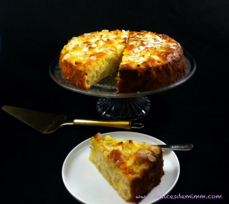 Gâteau Madeleine aux pommes 4