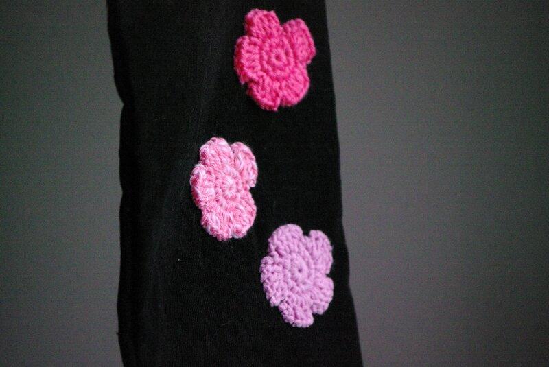 crocheter des appliqués fleurs