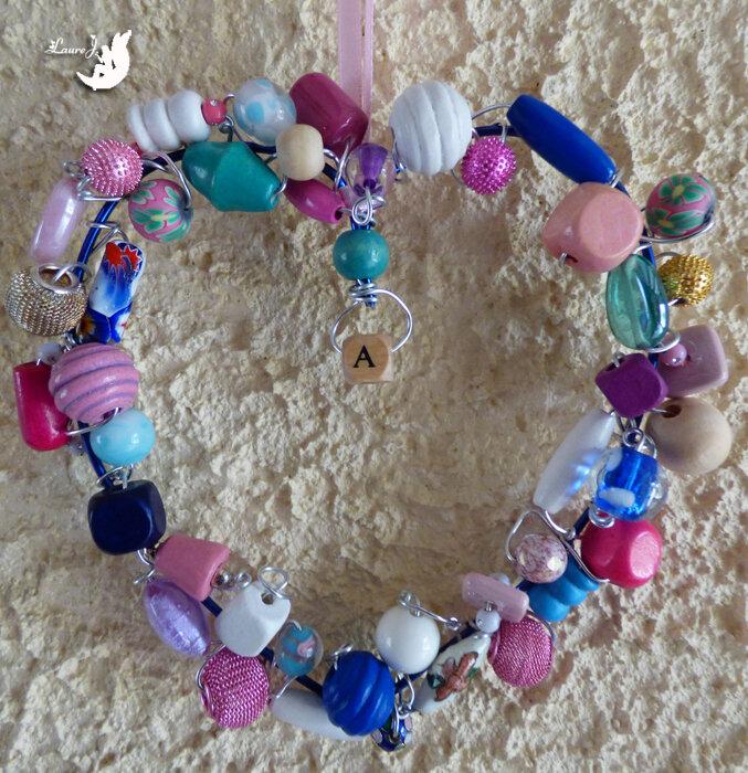 coeur perles Maman 1