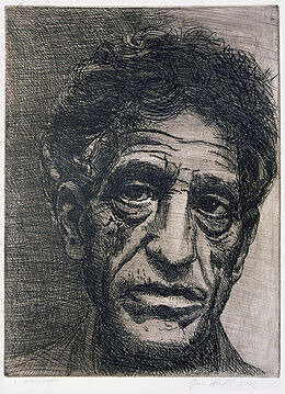 Alberto-Giacometti,-etching-(author-Jan-Hladík-2002)