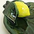 Déco vintage ... coupe à fruits vallauris * feuille & citron