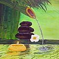 Zen fountain after an art sherpa painting tutorial