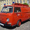 VOLKSWAGEN Combi type 2 tôlé Freiwillige Feuerwehr Leinweiler équipé par Ziegler Karlsruhe (1)