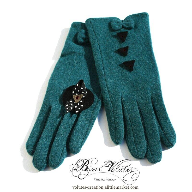 8158782f1c587 Nouvelle couleur de gants, vert foncé, bleu canard - Volutes ...
