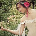 Courrone de fleur rose 02