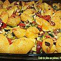 1115 Gratin de pâtes aux poireaux, chorizo et noix Couv