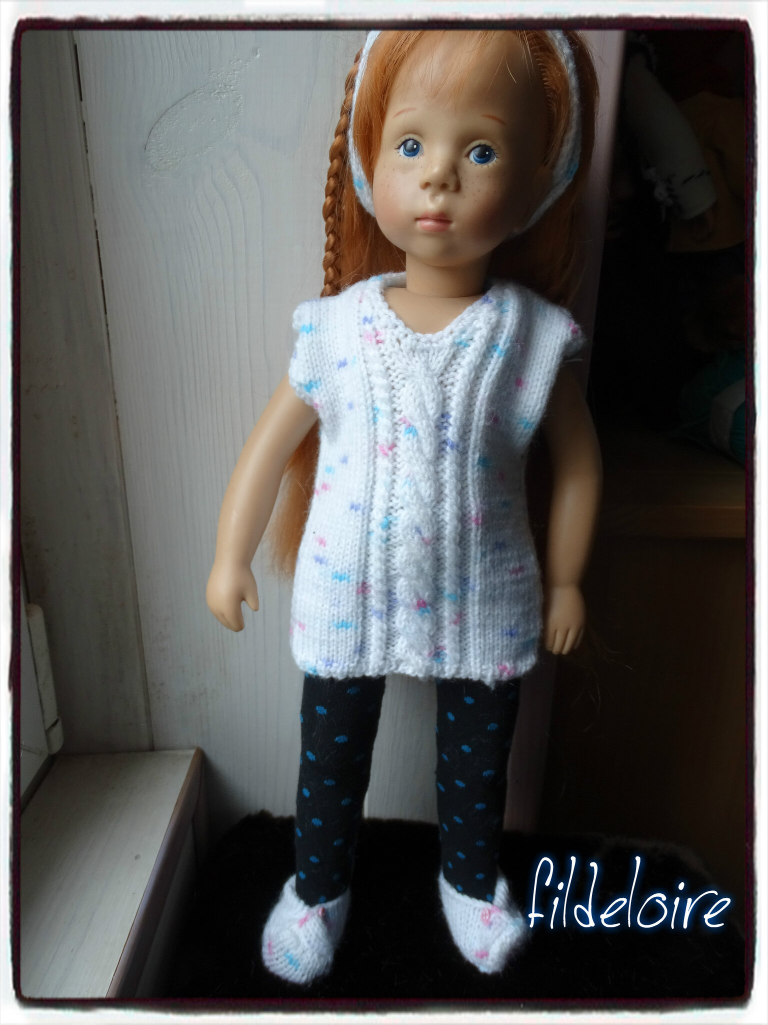 Pattern//fiche 6  tricot poupée Finouche 48 cm