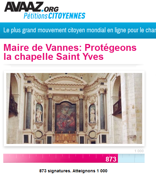 petition chapelle st yves