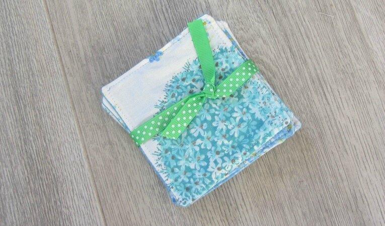 lingettes fleurs bleues 5